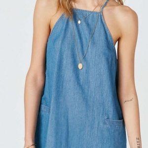 NWOT Urban Outfitters BDG Halter Denim Dress